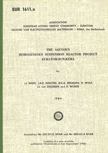 THE AQUEOUS HOMOGENEOUS SUSPENSION REACTOR PROJECT EURATOM-RCN-KEMA