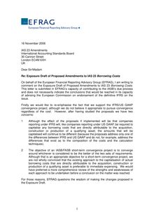 IAS23 Borrowing Costs - Final EFRAG  comment letter
