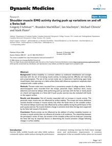 Shoulder muscle EMG activity during push up variations on and off a Swiss ball