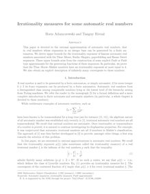 Irrationality measures for some automatic real numbers
