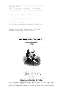 The Bay State Monthly — Volume 1, No. 6, June, 1884