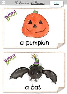 Anglais C.2 – Halloween - Mes flash cards