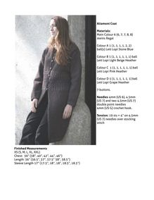 Altamont Coat Materials: Main Colour 6 (6, 7, 7, 8, 8) skeins Regal ...