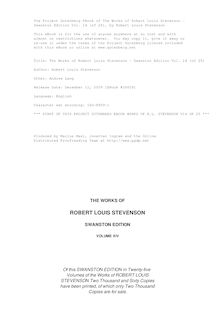 The Works of Robert Louis Stevenson - Swanston Edition Vol. 14 (of 25)