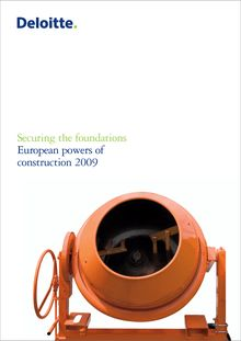European powers of construction 2009: Securing the foundations