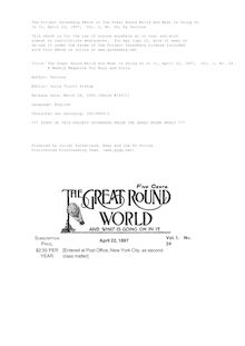 The Great Round World And What Is Going On In It, Vol. 1, No. 24, April 22, 1897 - A Weekly Magazine for Boys and Girls