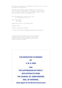 The Expedition to Borneo of H.M.S. Dido - For the Suppression of Piracy