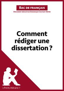 Comment rédiger une dissertation? (Fiche de cours)