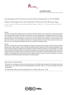 Landscape and Human-environment Interaction in the Middle Habur Drainage from the Neolithic Period to the Bronze Age - article ; n°1 ; vol.28, pg 43-53