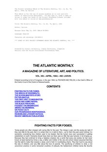 The Atlantic Monthly, Volume 13, No. 78, April, 1864