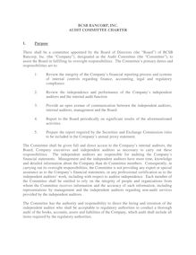 Audit Committee Charter (BCSB Bancorp)  (00296204;1)