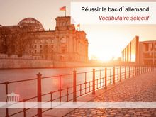 Bac 2014 Fiche vocabulaire selectif Allemand