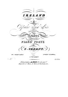 Partition No.3 pour Legacy (BW), Ireland: 3 Popular Irish Airs Arranged as Rondos pour pour Piano Forte