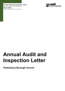 TE010l Annual Audit and Inspection Letter - FINAL