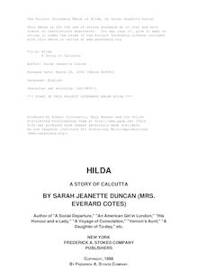 Hilda - A Story of Calcutta