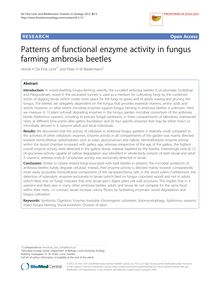 Patterns of functional enzyme activity in fungus farming ambrosia beetles