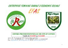 Catalogue produit EFAS