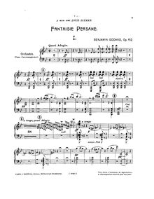 Partition Piano-Orchestral reduction, Fantaisie persane, Op.152