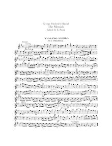 Partition violons I, Messiah, Handel, George Frideric par George Frideric Handel