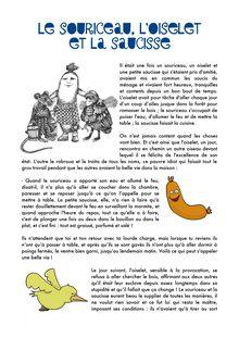 Le souriceau, l'oiselet et la saucisse