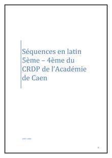 Séquences en latin 5ème-4ème - cours de latin - Salomé - Cours