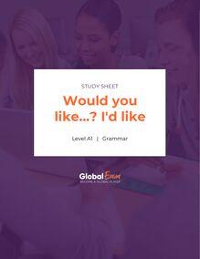Would you like…? I'd like