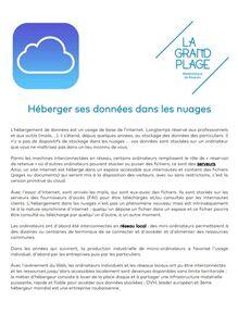 Héberger ses données dans les nuages