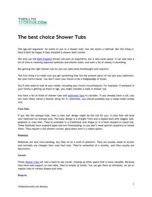 The best choice Shower Tubs