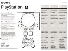 Notice PlayStation Sony  SCPH-7501