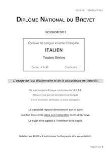 Brevet 2015: sujet Langues Vivantes espagnol, hébreu, italien, portugais, russe et turc !