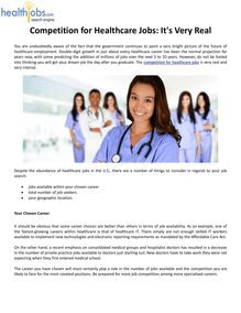 Competition for Healthcare Jobs: It