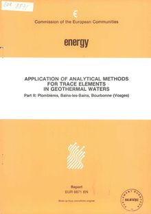 Application of analytical methods for trace elements in geothermal waters