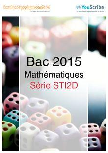 Corrigé Bac 2015 - Maths - STI2D