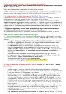 Fiche de révision sur LKa Communication nerveuse