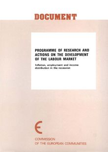 Programme of research and actions on the development of the labour market