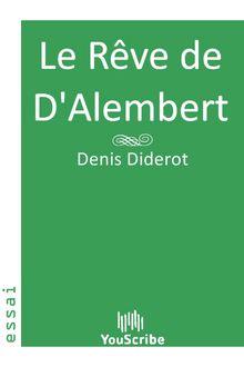 Le Rêve de D'Alembert de Denis Diderot - fiche descriptive
