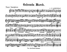 Partition Alto Saxophone (E♭), Golconda March, A♭ major and D♭ major