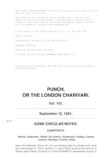 Punch, or the London Charivari, Volume 101, September 12, 1891