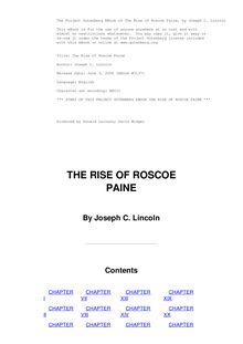 The Rise of Roscoe Paine