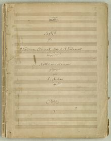 Score, Sextet, Op.24, Sextet for 2 Violins, Clarinet, Viola, and 2 Cellos, Op.24
