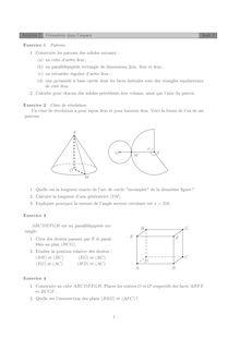 Géométrie dans l'espace Activité 7