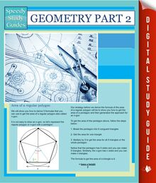 Geometry Part 2 (Speedy Study Guides)