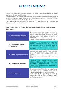 Brevet 2011 – Méthodologie – La boîte à méthode pour le Brevet !