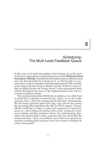 Scheduling: The Multi-Level Feedback Queue