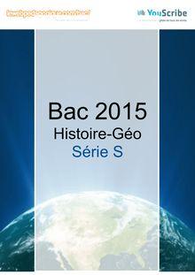 Corrigé Bac 2015 - Histoire-Géo - S
