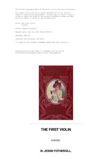 The First Violin - A Novel