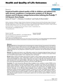 Impaired health-related quality of life in children and adolescents with chronic conditions: a comparative analysis of 10 disease clusters and 33 disease categories/severities utilizing the PedsQL™ 4.0 Generic Core Scales