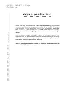 Plan, Exemple de plan dialectique