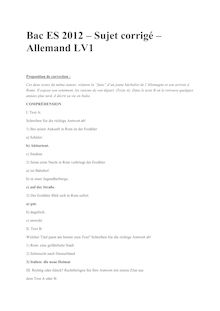 Bac 2012 S ES Allemand LV1 Corrige