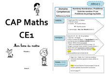 Mathématiques CE1 – Organisation des séances, exercices et leçons : Périodes 1 et 2 - Anne K livre du maître cap maths CE1 prep 1